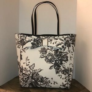 Betsey Johnson Black & White Floral Tote